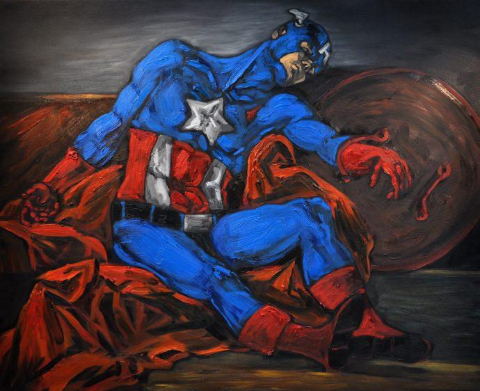 Kapetan Amerika 150x120 ulje na platnu_resize